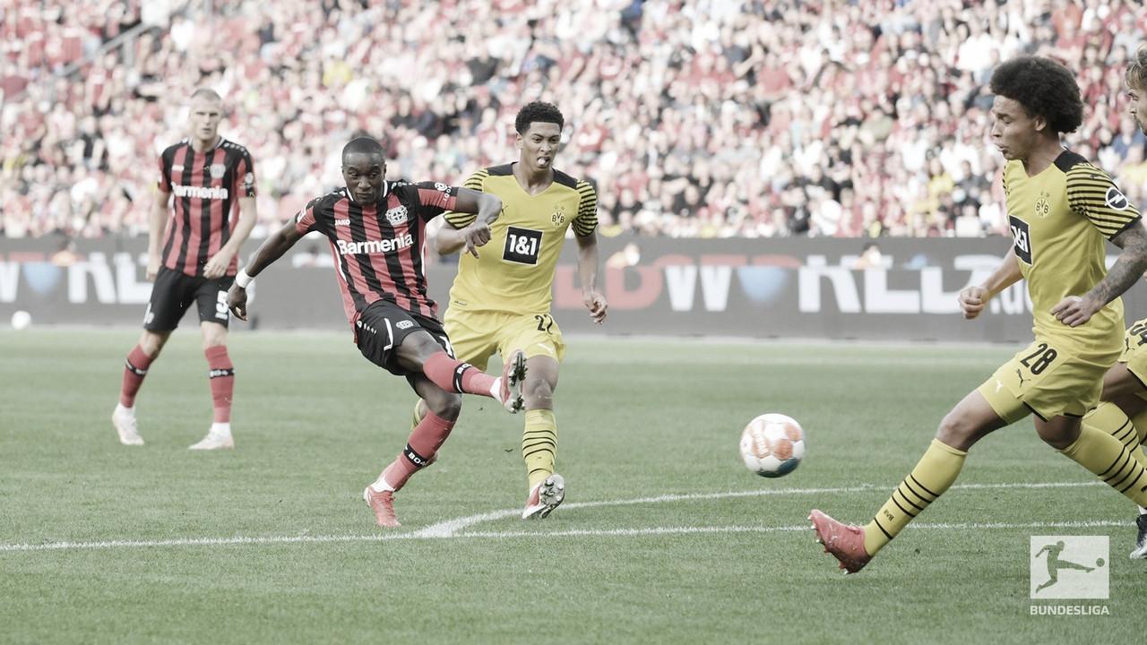 Com pênalti polêmico, Dortmund vence Leverkusen de virada em jogo movimentado