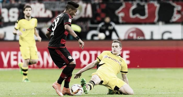 Bayer Leverkusen recebe carrasco Borussia Dortmund em momentos distintos na temporada