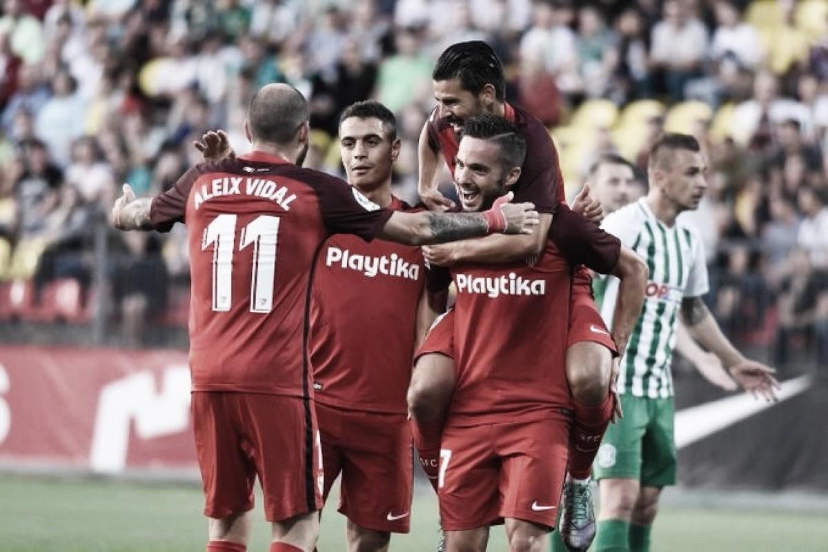 Sevilla goleia Zalgiris sem dificuldades e vai aos playoffs da Uefa Europa League