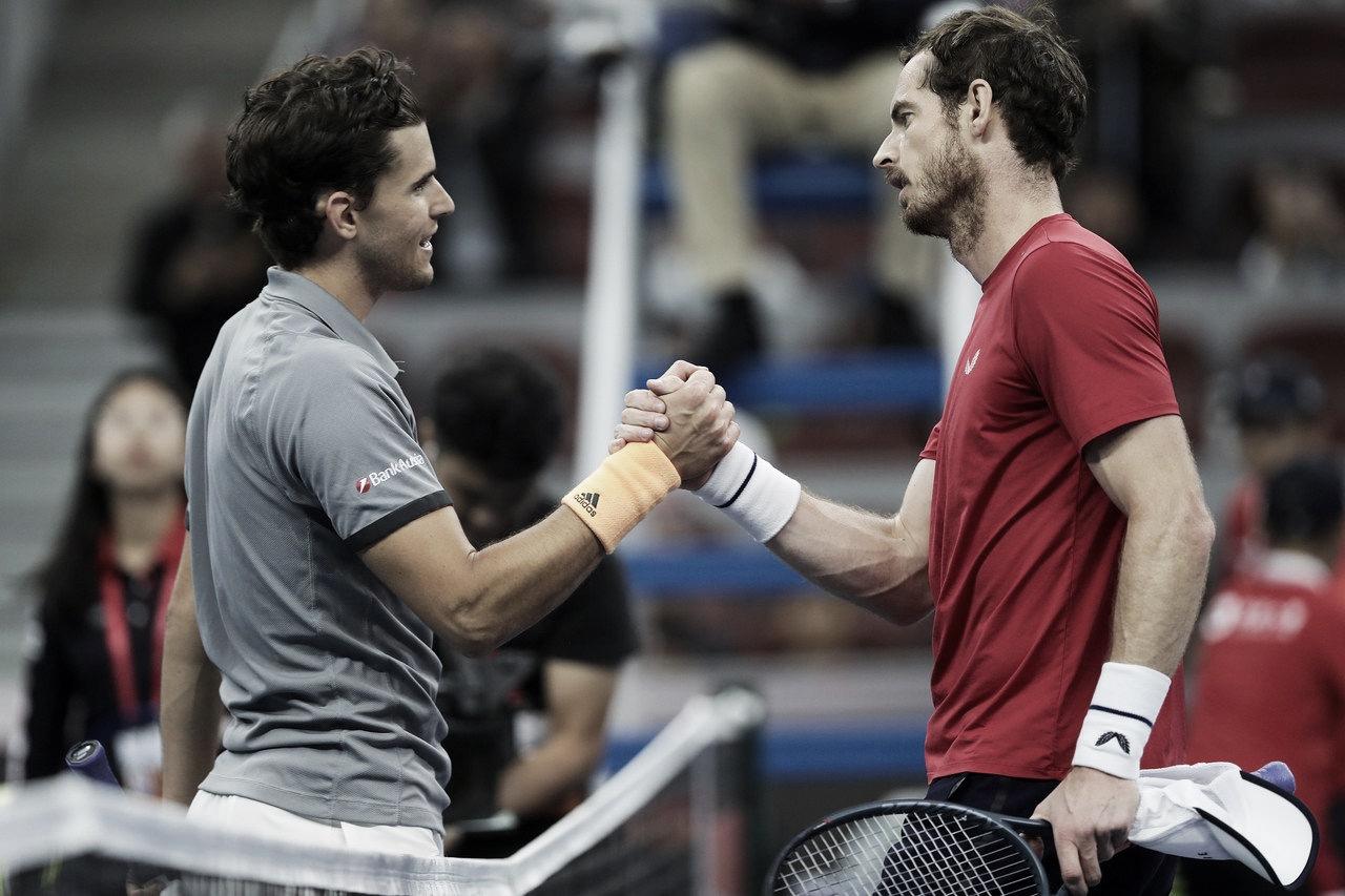 Thiem se complica, mas vence Murray e se garante nas semis do ATP 500 de Pequim