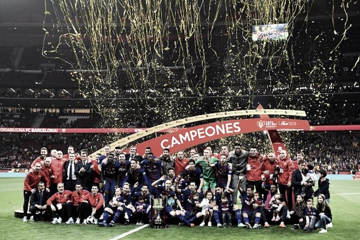 Barcelona atropela Sevilla em noite especial para Iniesta e se sagra campeão da Copa do Rei