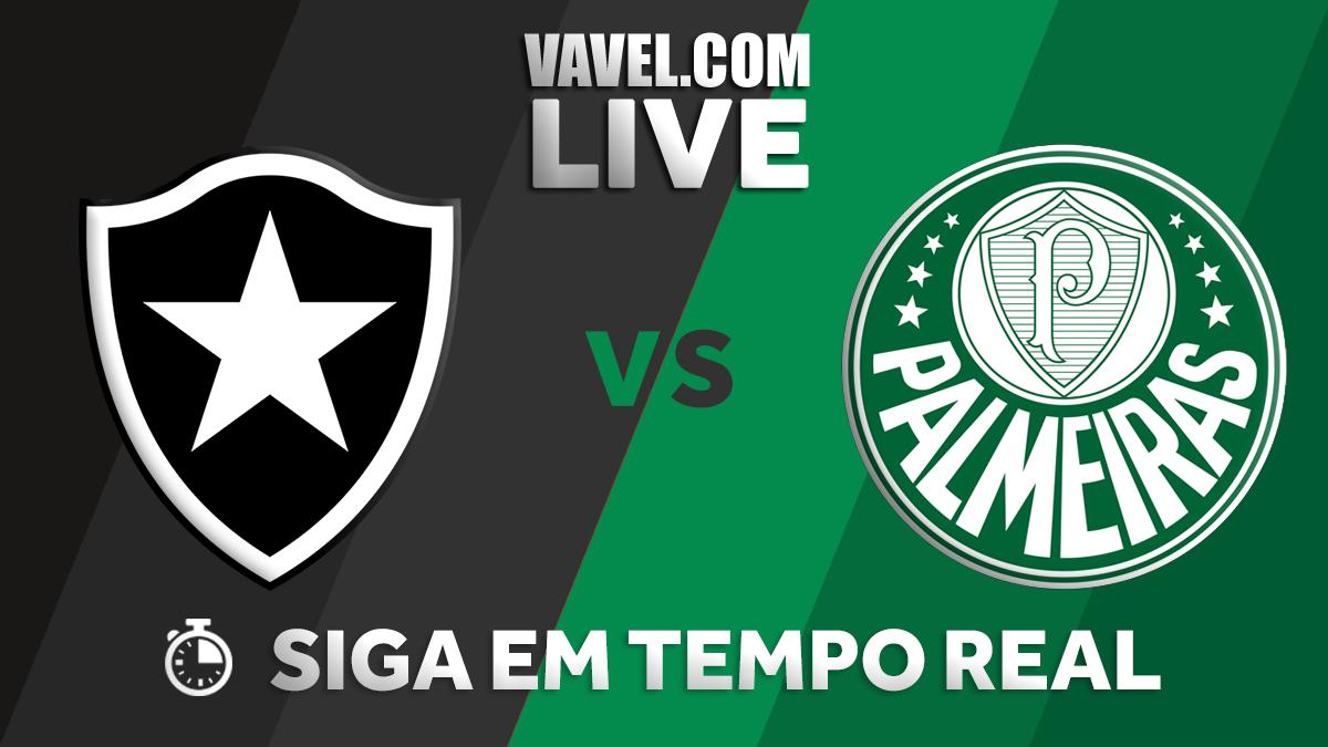 Resultado Botafogo x Palmeiras no Campeonato Brasileiro 2018 (1-1)
