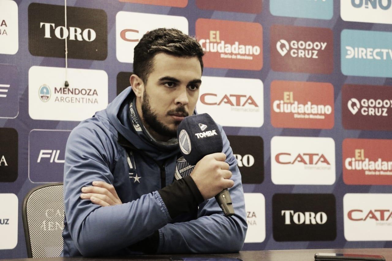 El volante de Godoy Cruz habló en conferencia de prensa