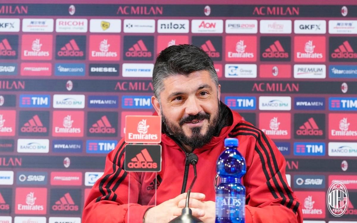 """Gattuso verso il Genoa: """"Niente alibi, la squadra ha reagito bene dopo l'Arsenal"""""""