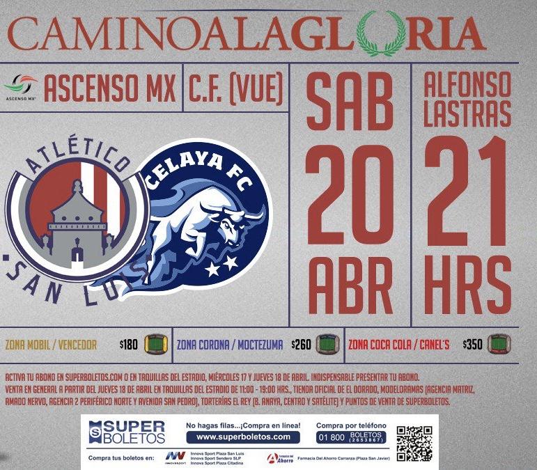 Precios, boletos y cómo canjear abonos: Atlético de San Luis vs Celaya en Liguilla