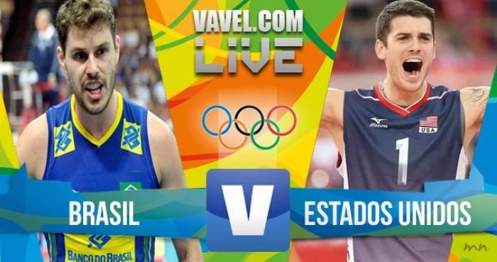 Brasil perde para os Estados Unidos no vôlei masculino dos Jogos Olímpicos (1-3)