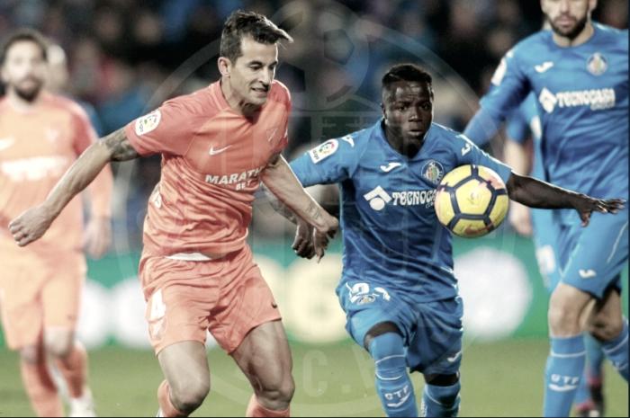 Getafe - Málaga: puntuaciones Getafe, jornada 19 de La Liga Santander