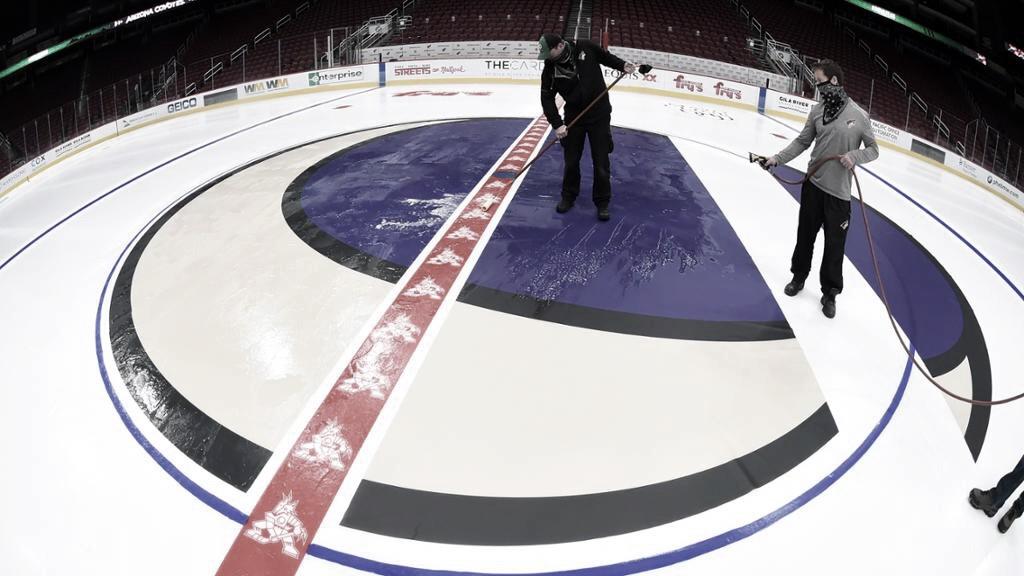 La luna creciente y Kachina presidirán el estreno local de San Jose | Foto: NHL.com