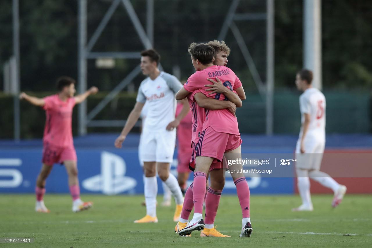 Álvaro Carrillo realizó su primera aparición en la UEFA Youth League ante el RB Salzburgo