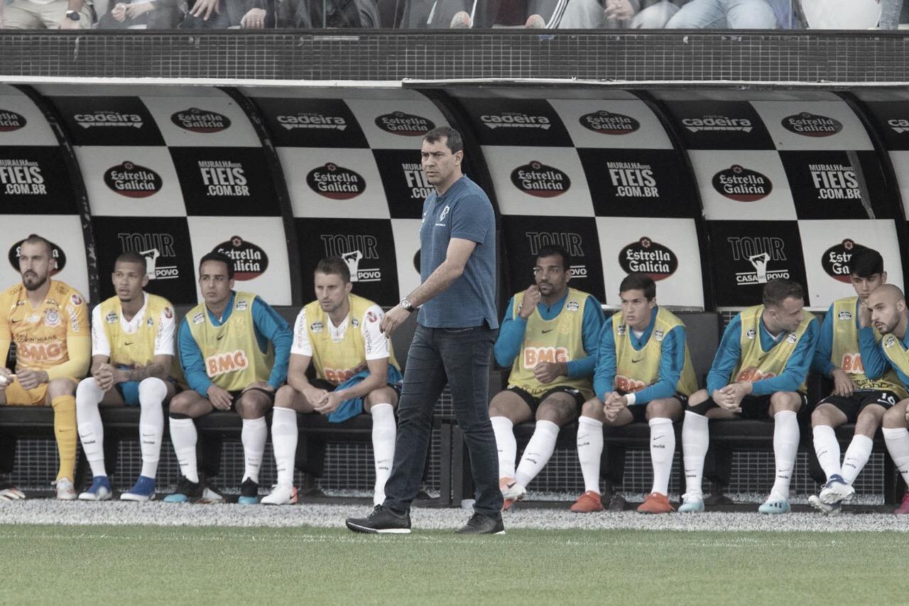 "Carille elogia Corinthians após empate: ""Muito feliz pelo desempenho"""