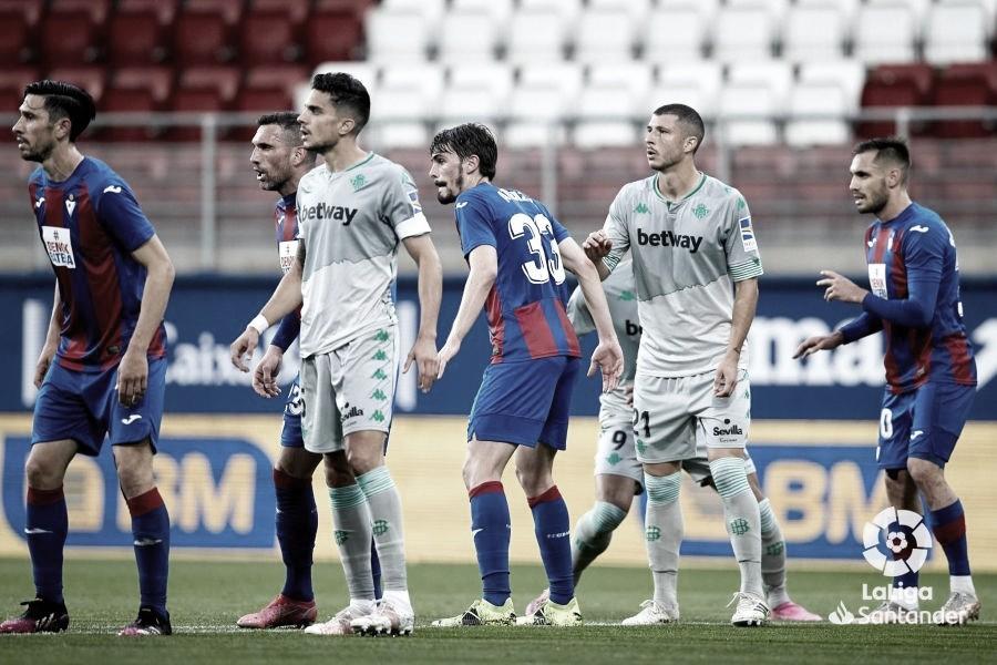 Eibar - Real Betis, puntuaciones del Real Betis 36ª jornada de LaLiga Santander