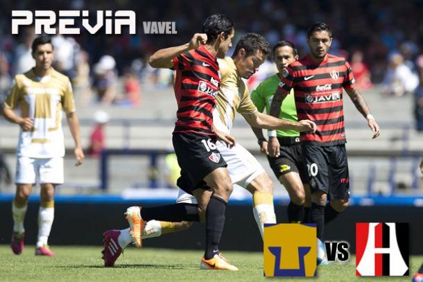 Pumas - Atlas: el equipo universitario en busca de su primer triunfo en casa