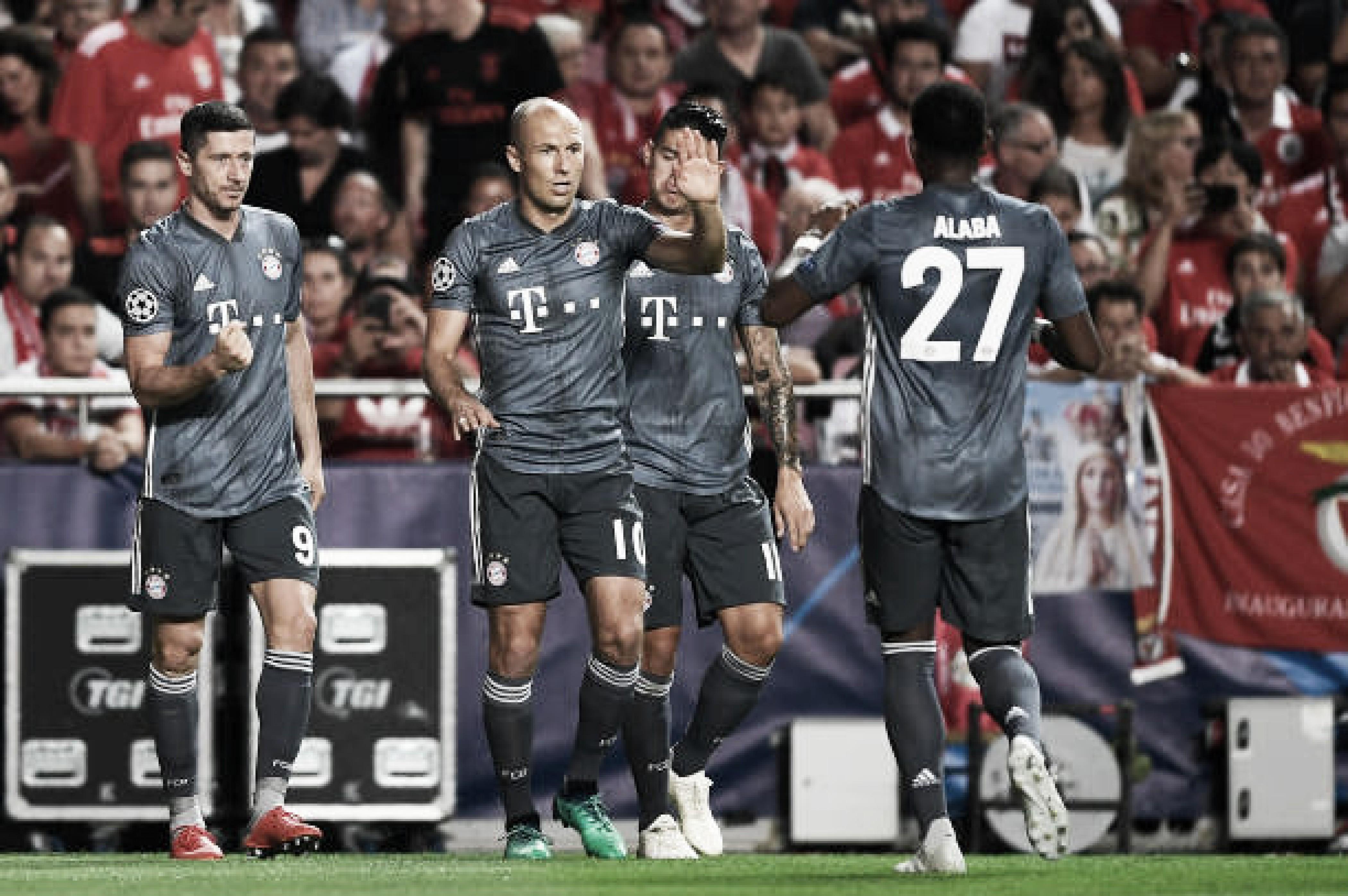 Bayern de Munique confirma favoritismo e vence Benfica na Champions League