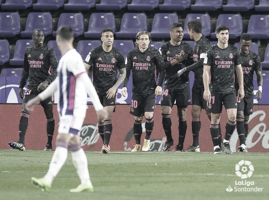Valladolid 0 - 1 Real Madrid: los de Zidane recortan distancias