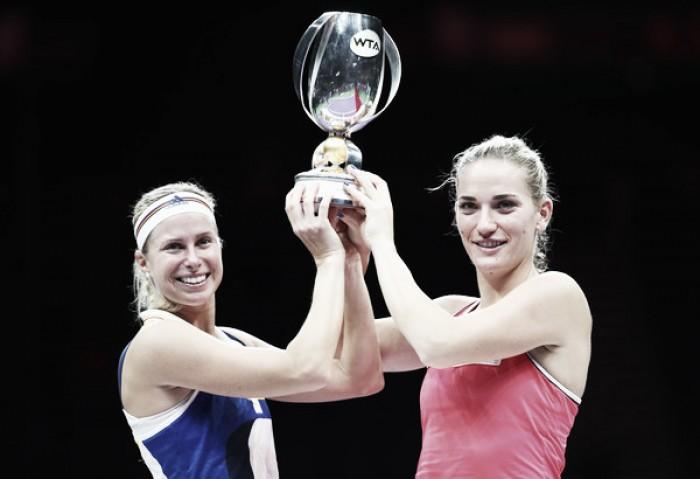 WTA Finals: Timea Babos and Andrea Hlavackova take home the doubles title