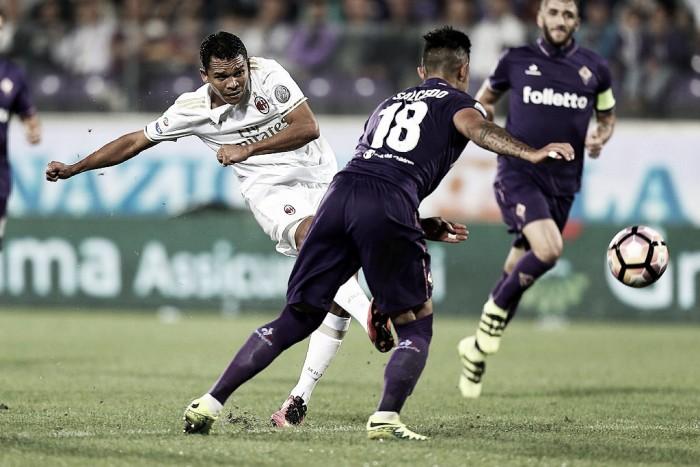 Milan-Fiorentina, scontro diretto per l'Europa. Bacca di nuovo al centro del tridente