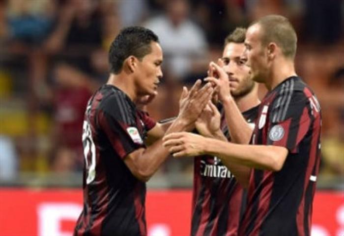 Il Milan batte il Bologna e diventa momentaneamente sesto: 0-1 grazie ad un rigore siglato da Bacca