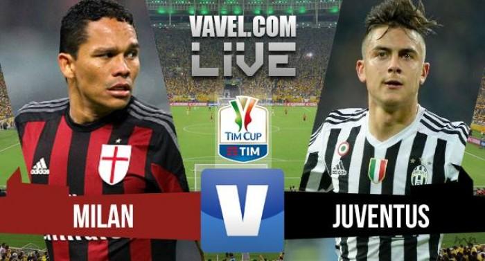 Resultado Milan x Juventus pela Copa Itália 2015/16 (0-1)