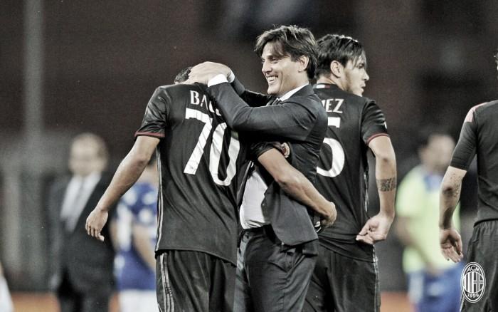 """Decisivo em triunfo do Milan, Bacca minimiza polêmica com Montella: """"Respeito suas escolhas"""""""
