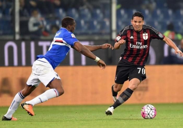 Partita Sampdoria - Milan in Serie A 2016/17 (0-1): Il Milan batte la Sampdoria con la rete decisiva di Carlos Bacca