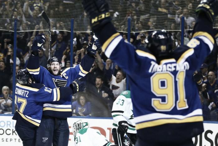 St. Louis Blues blow out Dallas Stars to take 2-1 series lead