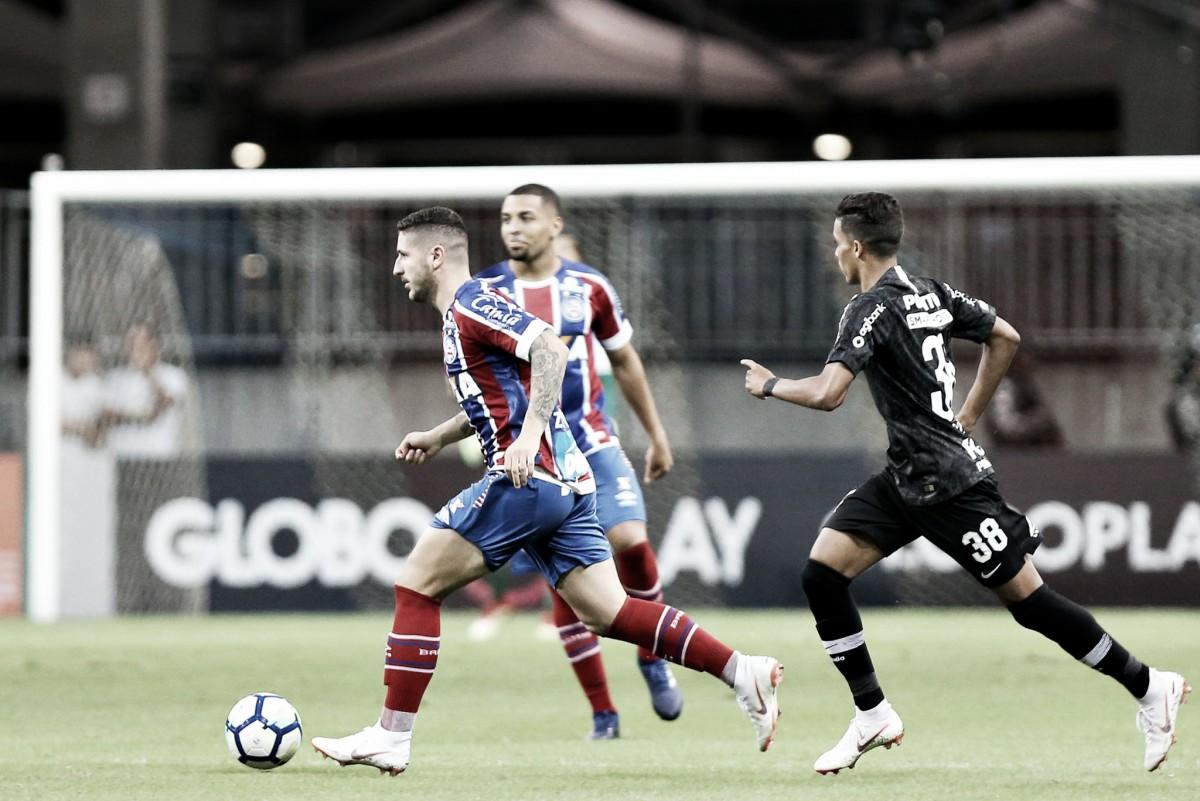 Bahia pressiona desde o início e bate Corinthians pelo placar mínimo no final do jogo