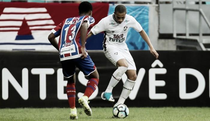 Bahia sufoca Fluminense, arranca empate e deixa zona de rebaixamento