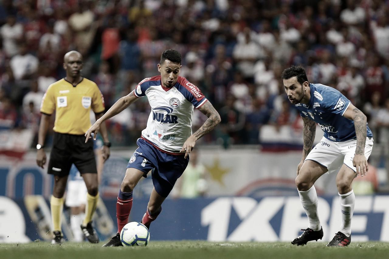 """Estreante no Bahia, Lucca lamenta empate: """"A gente proprôs todo o jogo"""""""