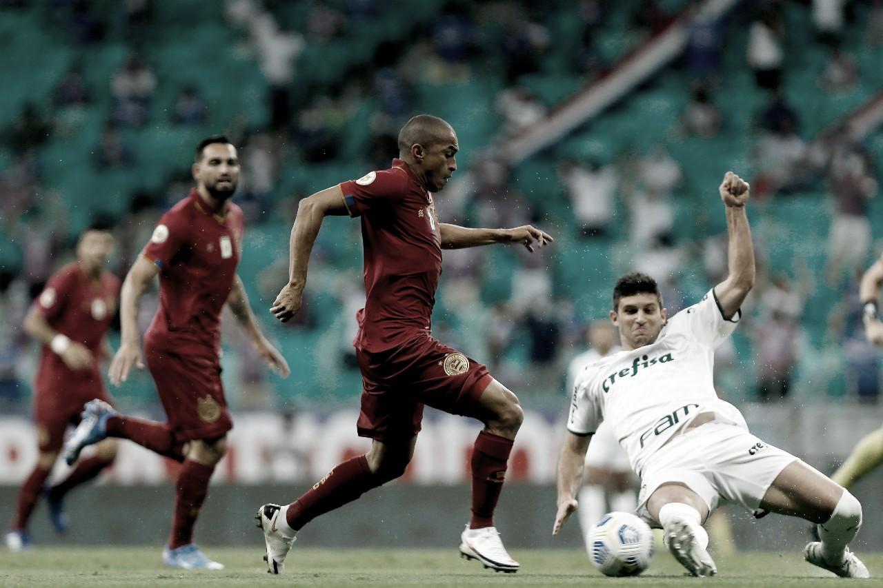 Bahia pressiona, mas não consegue sair do empate com Palmeiras na Fonte Nova