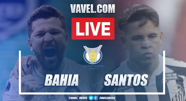 Gols e melhores momentos Bahia 2 x 0 Santos pelo Campeonato Brasileiro