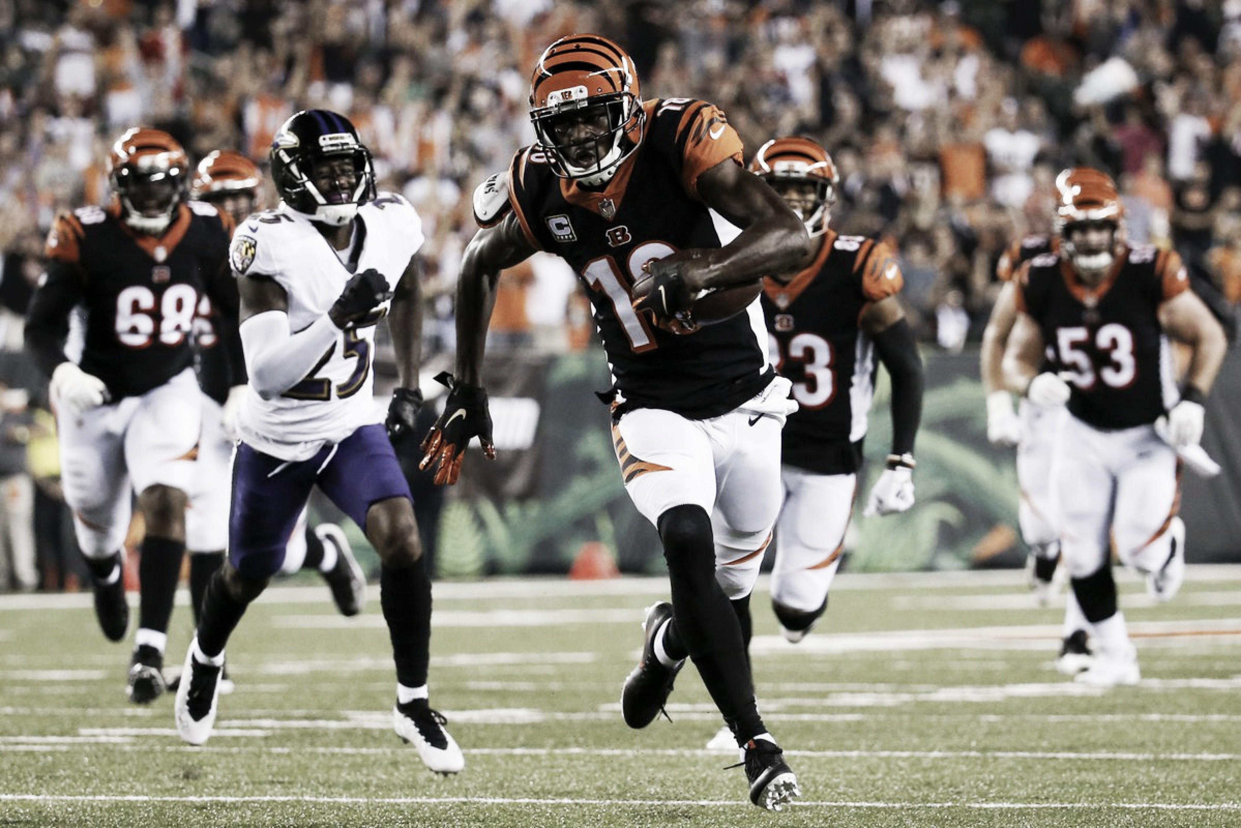A.J. Green derribó vuelo de Ravens; Bengals en la cima
