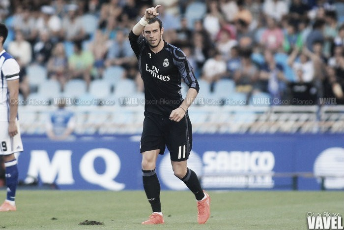 El Madrid,a un gol del récord del Santos