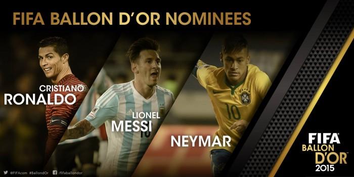 Messi, Ronaldo ou Neymar: Fifa escolhe vencedores da Bola de Ouro 2015