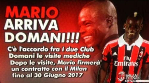 Milan confirma contratação de Mario Balotelli