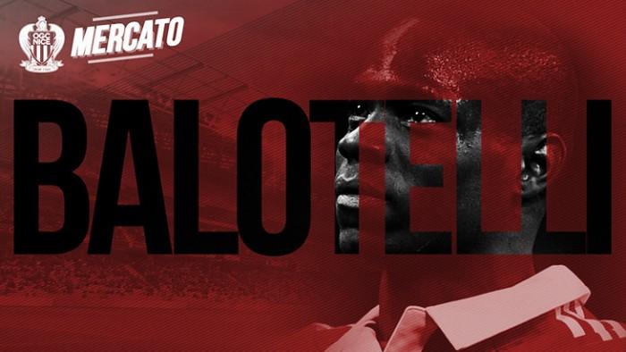 Após dias de especulação, Nice oficializa contratação do atacante italiano Mario Balotelli