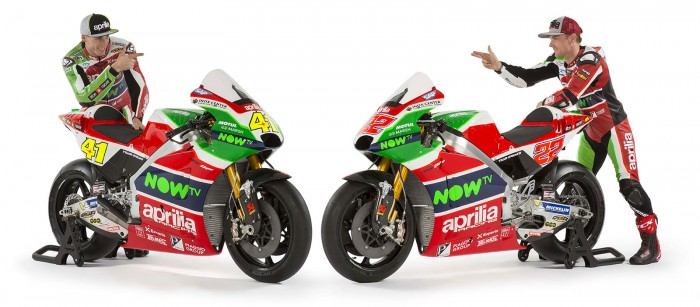 Whole new 2017 line up for the Aprilia Racing Team Gresini