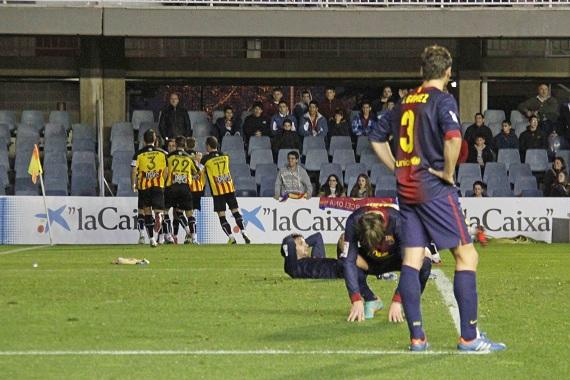 El Barça B empata en el derbi catalán ante el Girona