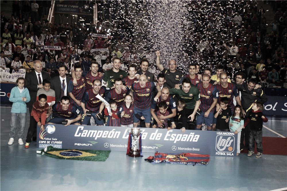 El FC Barcelona se proclama campeón de la Copa de España al derrotar 5-3 a un dignísimo Lobelle de Santiago