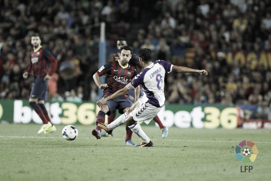 El Real Valladolid solo ha ganado dos veces en el Camp Nou