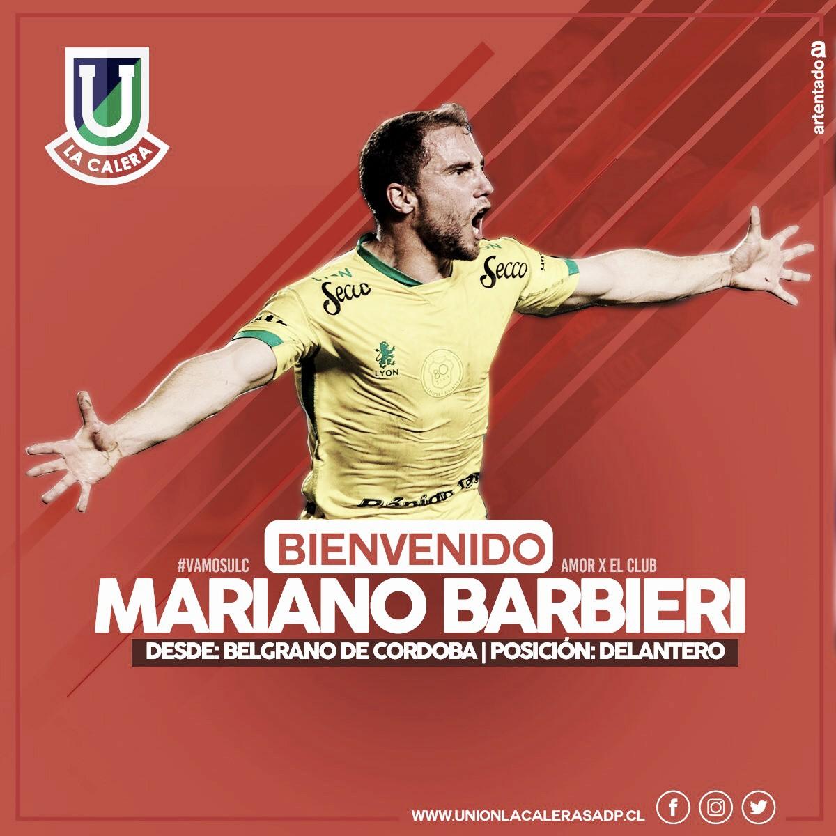 Mariano Barbieri, otro delantero argentino que jugará en Chile
