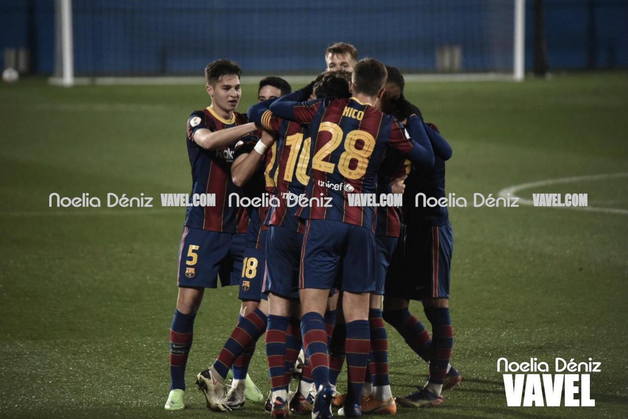 El Barça B gana con más goles que ocasiones