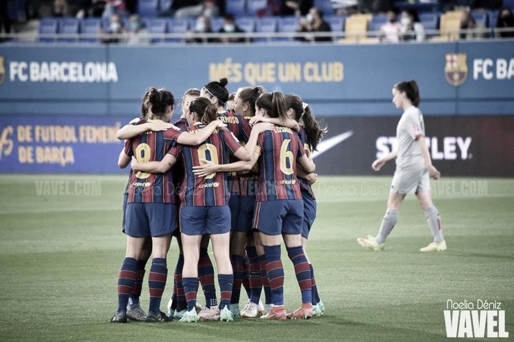 El Barça festeja el doblete con goleada (8-0)