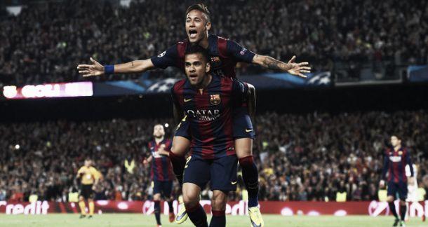Barcelona 2-0 PSG: Neymar double sends Barcelona into semi-finals