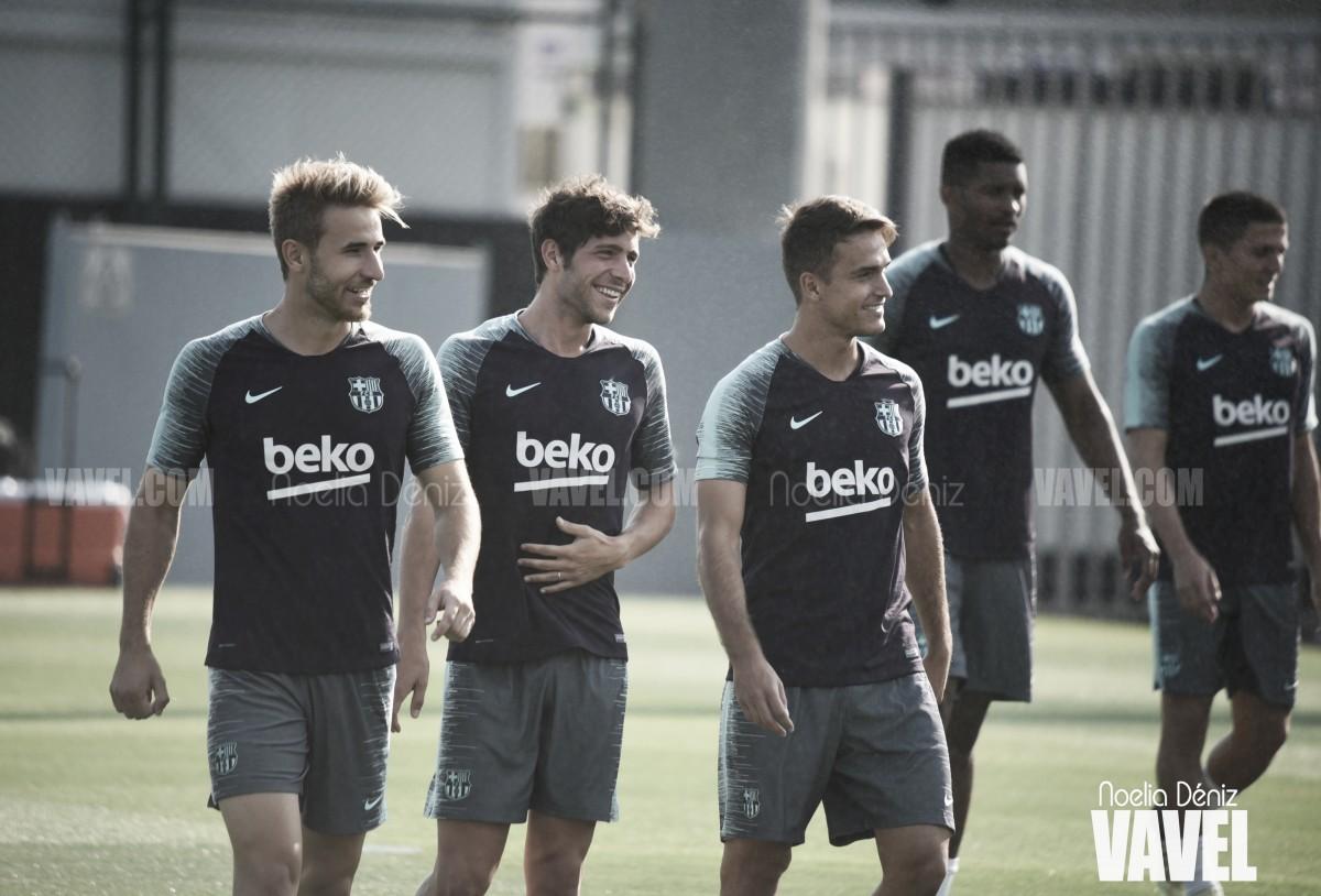 El Barcelona sigue trabajando intensamente
