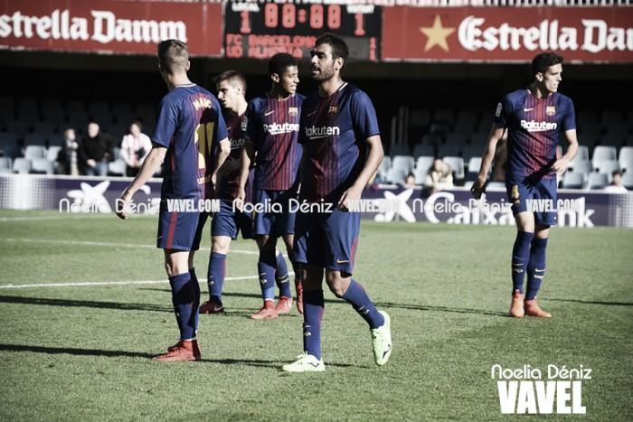 El Zaragoza 'agua la fiesta' al Barça B en el primer partido de 2018