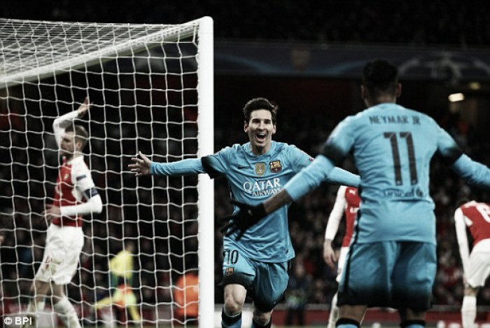 Arsenal 0-2 Barcelona: Messi double shoots down Gunners