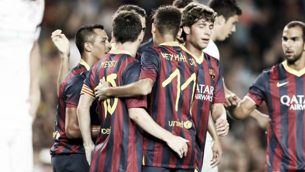 Barcelona - Santos: puntuaciones del Barcelona, trofeo Joan Gamper