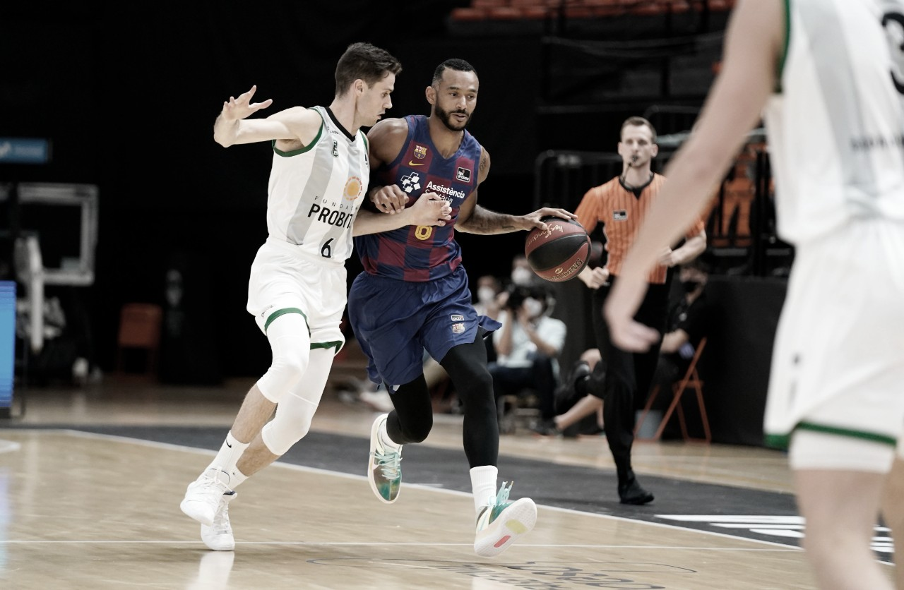 El Barça sobrevive a un aguerrido Joventut en la vuelta del baloncesto