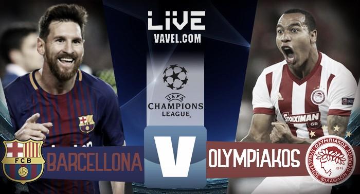 Barcellona-Olympiakos live, UEFA Champions League 2017/18 in diretta (3-1): Nikolau segna in entrambe le porte, Messi fa 100!