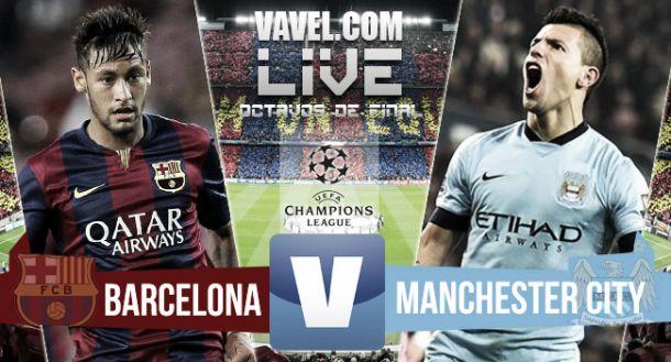 Score match Barcelona vs Manchester City UCL (1-0) (3-1 on aggregate)